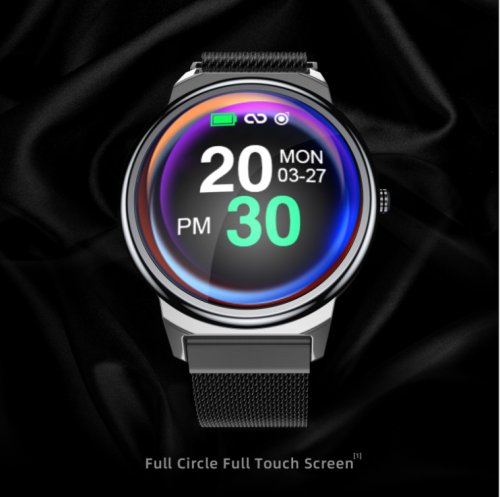 ELF1 smart Watch Bracelet 1.3 inch full touch circular screen heart rate and blood pressure monitoring smart Bracelet