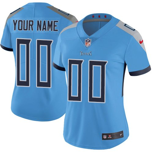 Women's Customized Football Club Team Blue Alternate Jersey