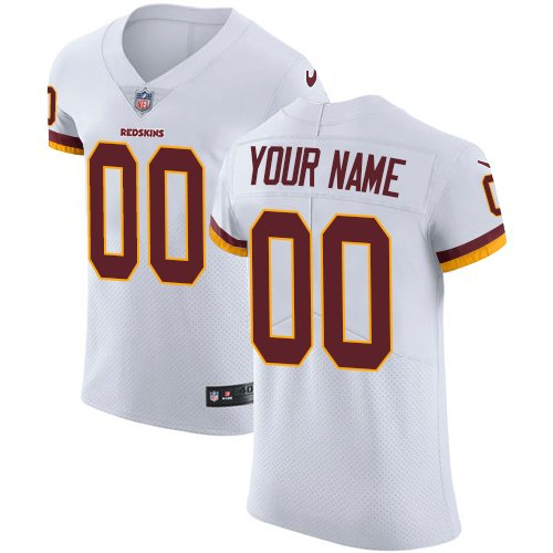 Men's Customized Football Club Team White Road Jersey - Elite