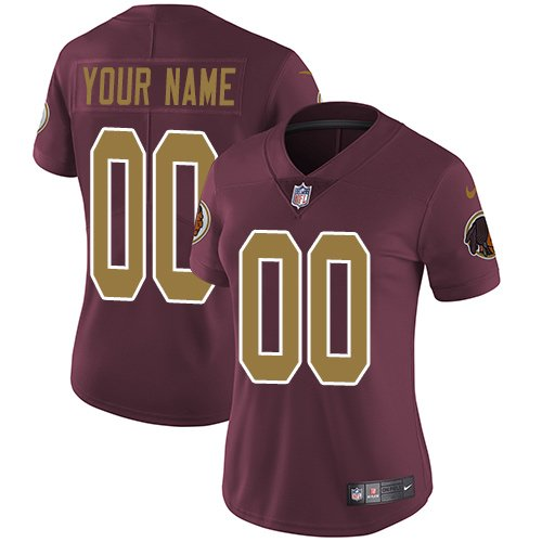 Women's Customized Football Club Team Burgundy Red Alternate Jersey