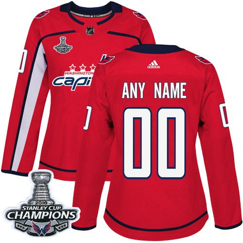 Women's Customized Ice Hockey Club Team Red Home Jersey