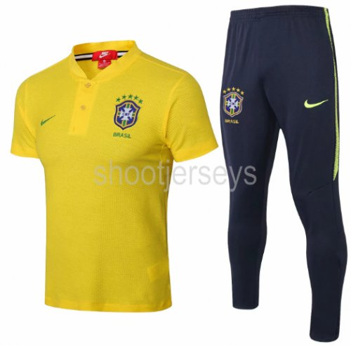 Brazil 2018 Training Polo and Pants - Yellow