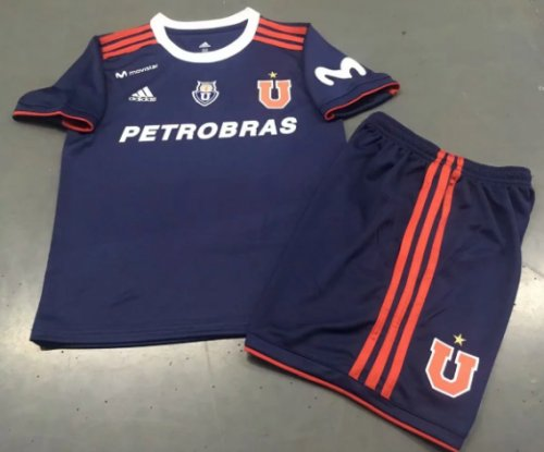 Club Universidad de Chile 19/20 Kids Home Soccer Jersey and Short Kit
