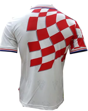 Thai Version Croatia 1998 World Cup Retro Home Soccer Jersey