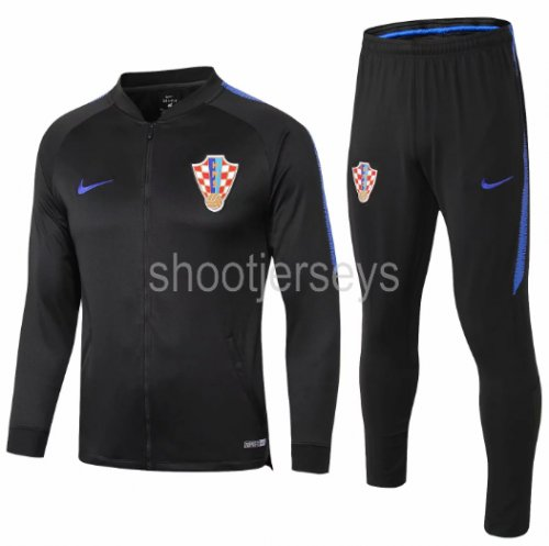 Croatia 2018 Jacket and Training Pants Black - 001
