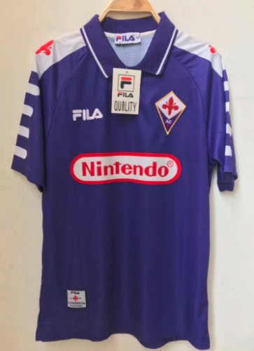Thai Version Fiorentina 1998 Retro Soccer Jersey