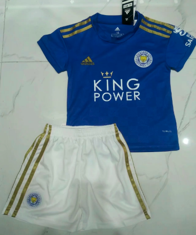 LEICESTER CITY 19/20 Kids Home Soccer Jersey and Short Kit