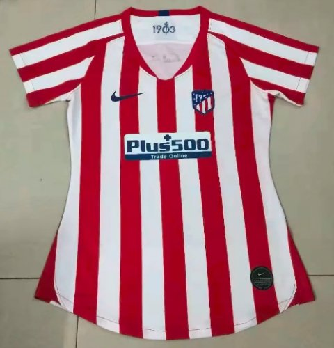 Thai Version Atletico Madrid 19/20 Women's Home Soccer Jersey