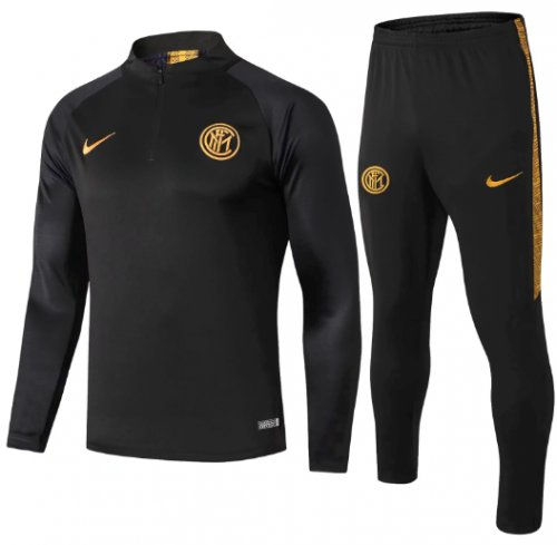 Inter Milan 19/20 Soccer Training Top and Pants - Black