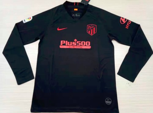 Thai Version Atletico Madrid 19/20 LS Away Soccer Jersey