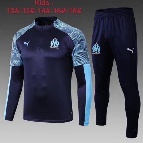 Olympique Marseille 19/20 Kids Soccer Top and Pants - #E310