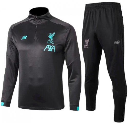 Liverpool 19/20 Training Top and Pants Dark Grey - #B351