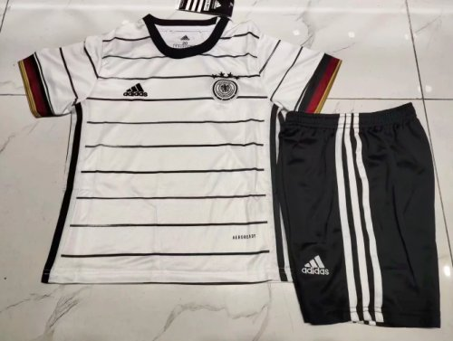 Germany 2020 Kids Home Soccer Jersey and Short Kit