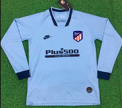 Thai Version Atletico Madrid 19/20 LS Third Soccer Jersey