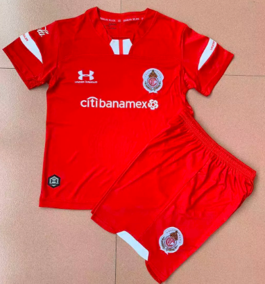 Toluca 19/20 Kids Home Soccer Jersey and Short Kit