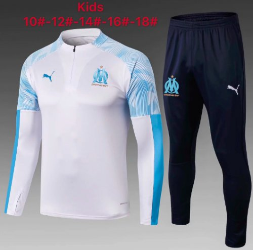 Olympique Marseille 19/20 Kids Soccer Top and Pants - #E343