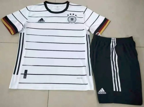 Germany 2020 Home Soccer Jersey and Short Kit