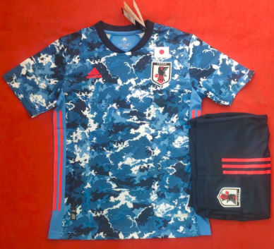 Japan 2020 Home Soccer Jersey and Short Kit