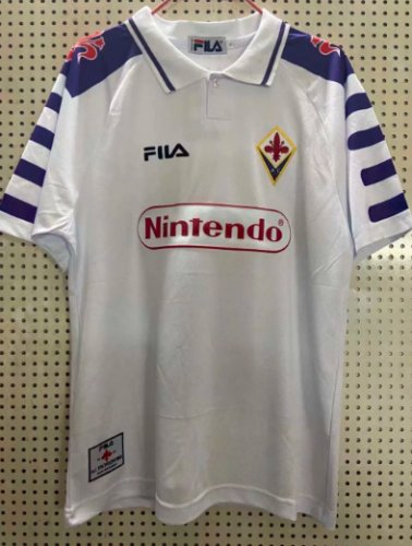 Thai Version Fiorentina 1998 Retro Away Soccer Jersey