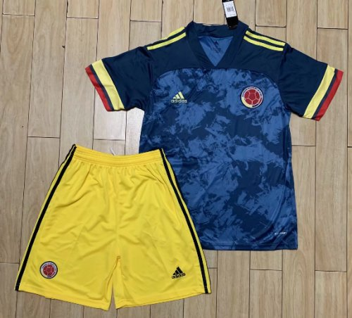 Colombia 2020 Away Soccer Jersey and Short Kit