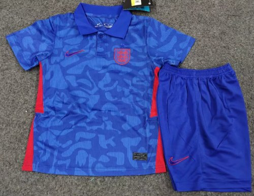 England 2020 Kids Away Soccer Jersey and Short Kit