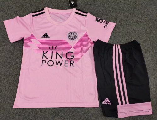 LEICESTER CITY 19/20 Kids Away Soccer Jersey and Short Kit