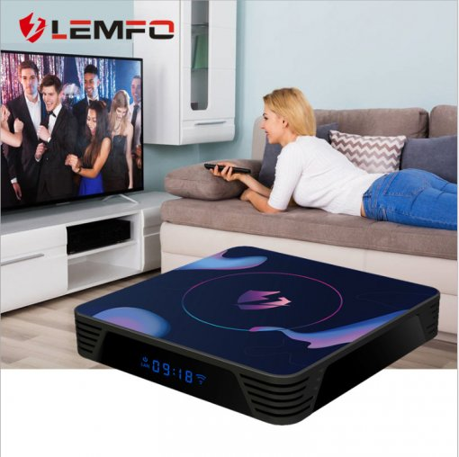 Lemfo let1 set top box Android 9.0 intelligent network set top box 4K HD player TV box