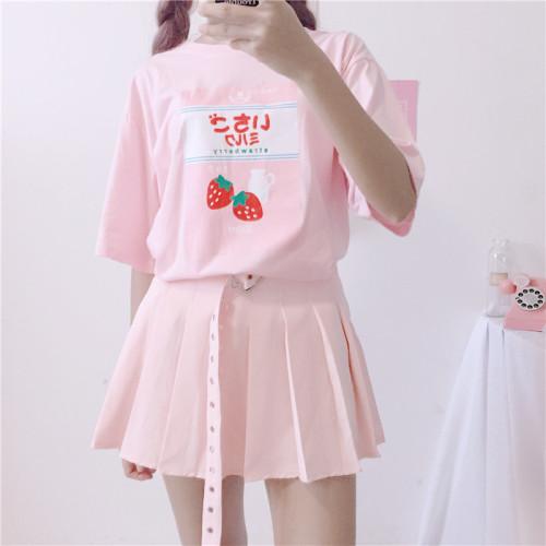 Strawberry Print Top T-Shirt