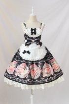 Sweet Desert Printed Lolita JSK Dress with Apron