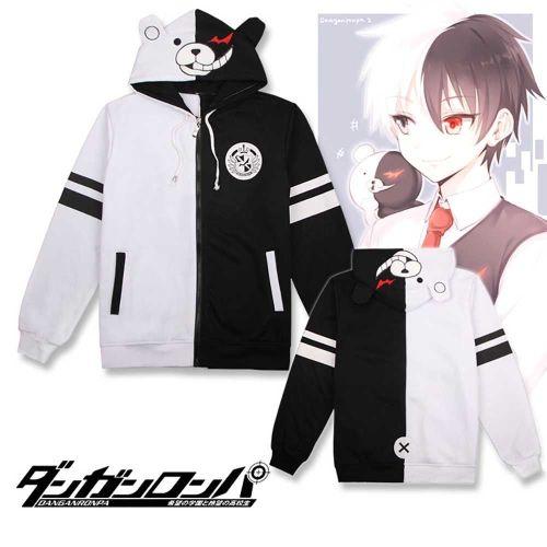 Anime Danganronpa Monokuma Black White Bear Jacket