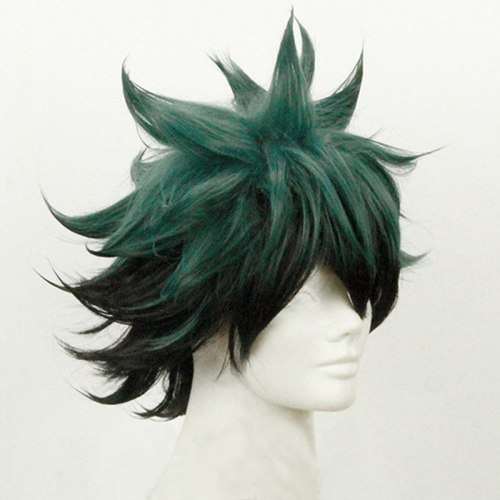 My Hero Academia Izuku Midoriya Short Green Black Cosplay Wig