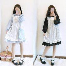 Sweet Cute Kawaii  Princess Maid Vintage Ruffles Skirt Dress