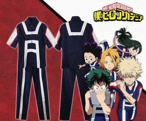 My Hero Academia  Midoriya Izuku Bakugou Midoriya Iida School Sportswear Cosplay Costume