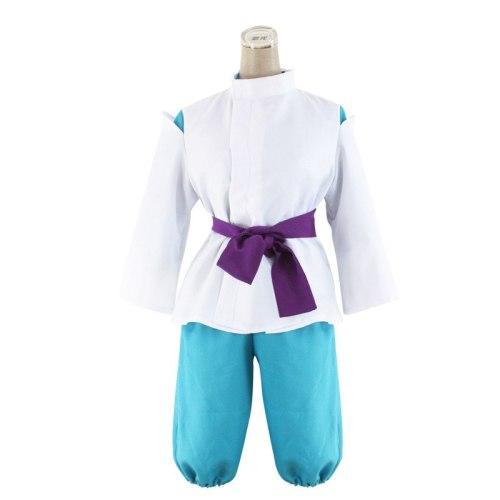 Spirited Away Sen to Chihiro no Kamikakushi White Dragon Haku Nigihayami Kohakunushi Kimono Uniform Cosplay Costume