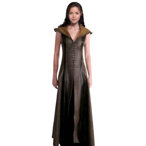 Halloween Dresses Women Sexy Slim Lace Up Leather Medieval Ranger