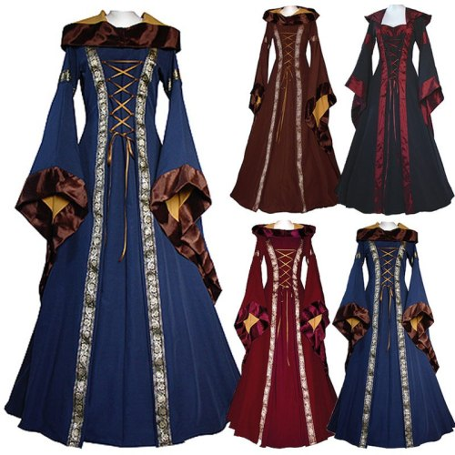 Medieval Maiden Fancy Cosplay Victorian Dress Costume