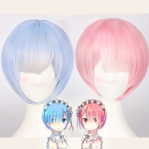 Re:Zero Starting Life in Another World  REM RAM Cosplay Wigs