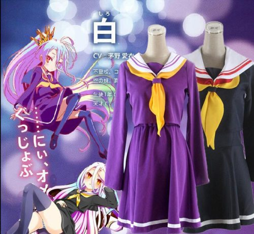 No Game No Life Shiro Emboitement Student Uniform Sailor Suit