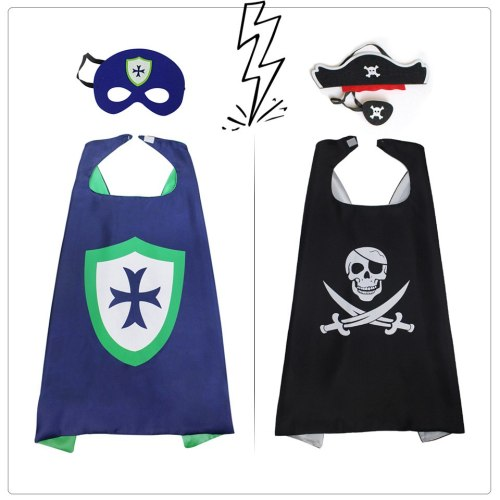 SPECIAL 70*70 cm Pirate Cape Mask Themed Pirate Costumes Role Playing Pirate