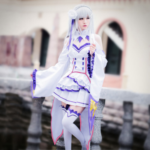 Anime Re: Zero - Starting Life in Another World Emilia Cosplay Costume