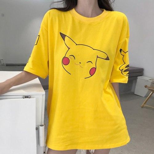 Pokemon Pikachu Kawaii Cartoon Print T Shirt