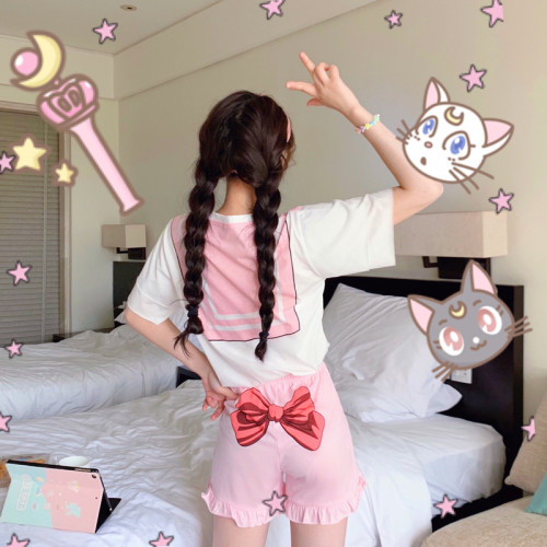 Kawaii Sailor Moon Pajamas Two-piece Suit