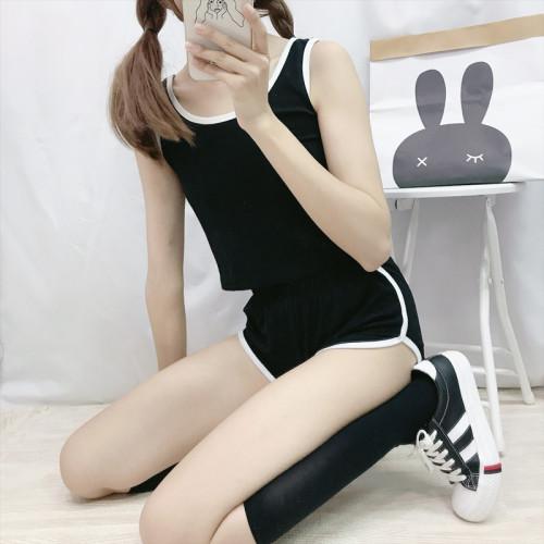 Harajuku Vest shorts Japanese Sportswear Suit