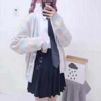 Harajuku Highschool Uniform Set Muticolor (Sweater+Skirt+Shirt)