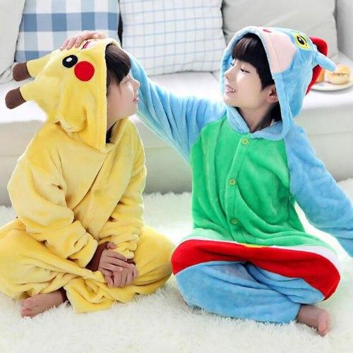 Kid's Pikachu Onesie Flannel Pokemon Pajamas