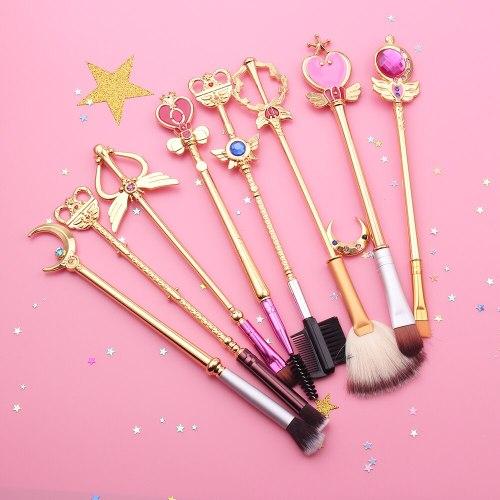8 pcs Sailor Moon Cosplay Makeup Brush Cosmetic Tools Toiletry Beauty Stick Rod Brush
