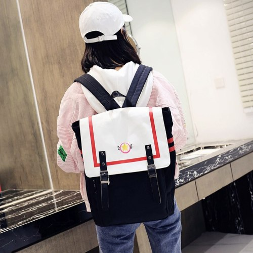 Anime Cardcaptor Sakura Schoolbag Buckle Backpack