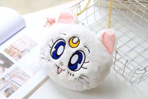 Sailor Moon Luna Cat Kawaii Plush Cross Bag