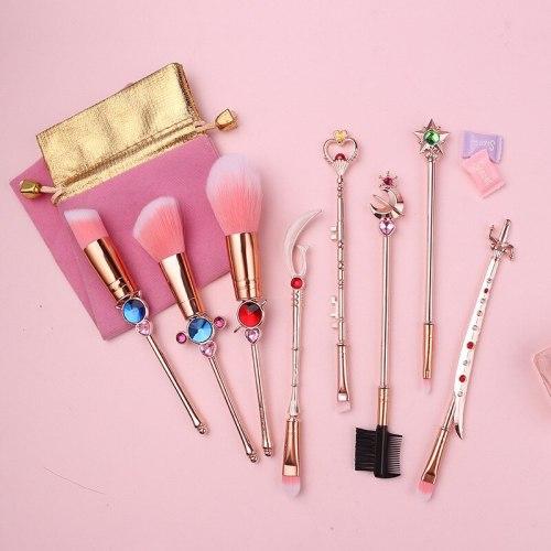 8PCS Anime Sailor Moon Makeup Brushes Set