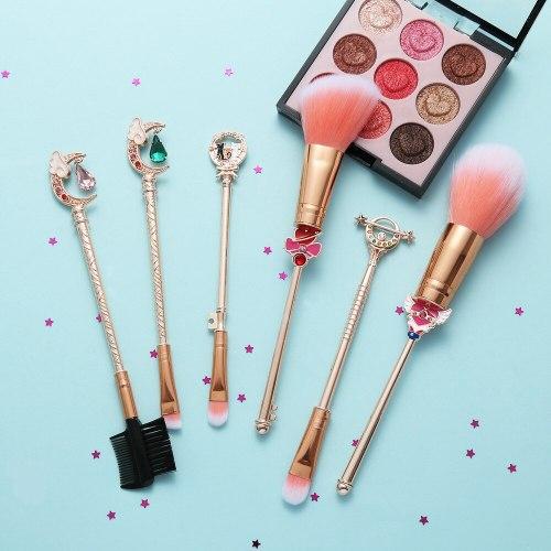 6pcs Anime Sailor Moon Cosplay Makeup Brushes Set Girls Makeup Brush Set